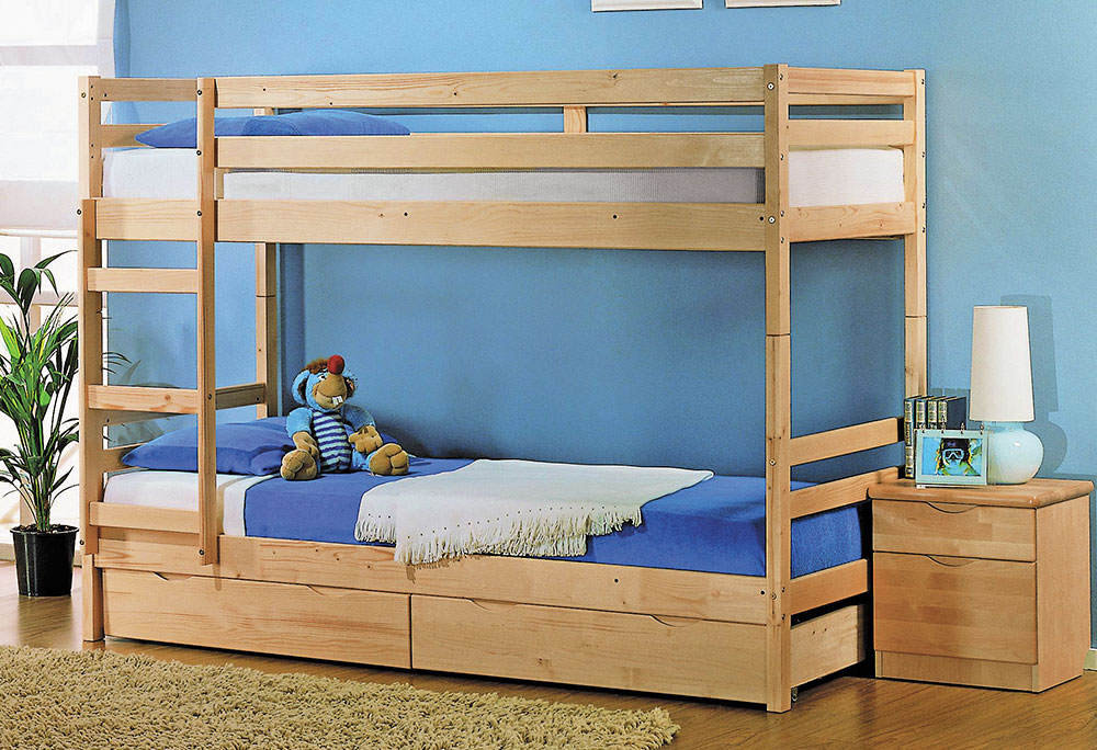 кровать двухъярусная трансформер массив с ящиками боровичи мебель