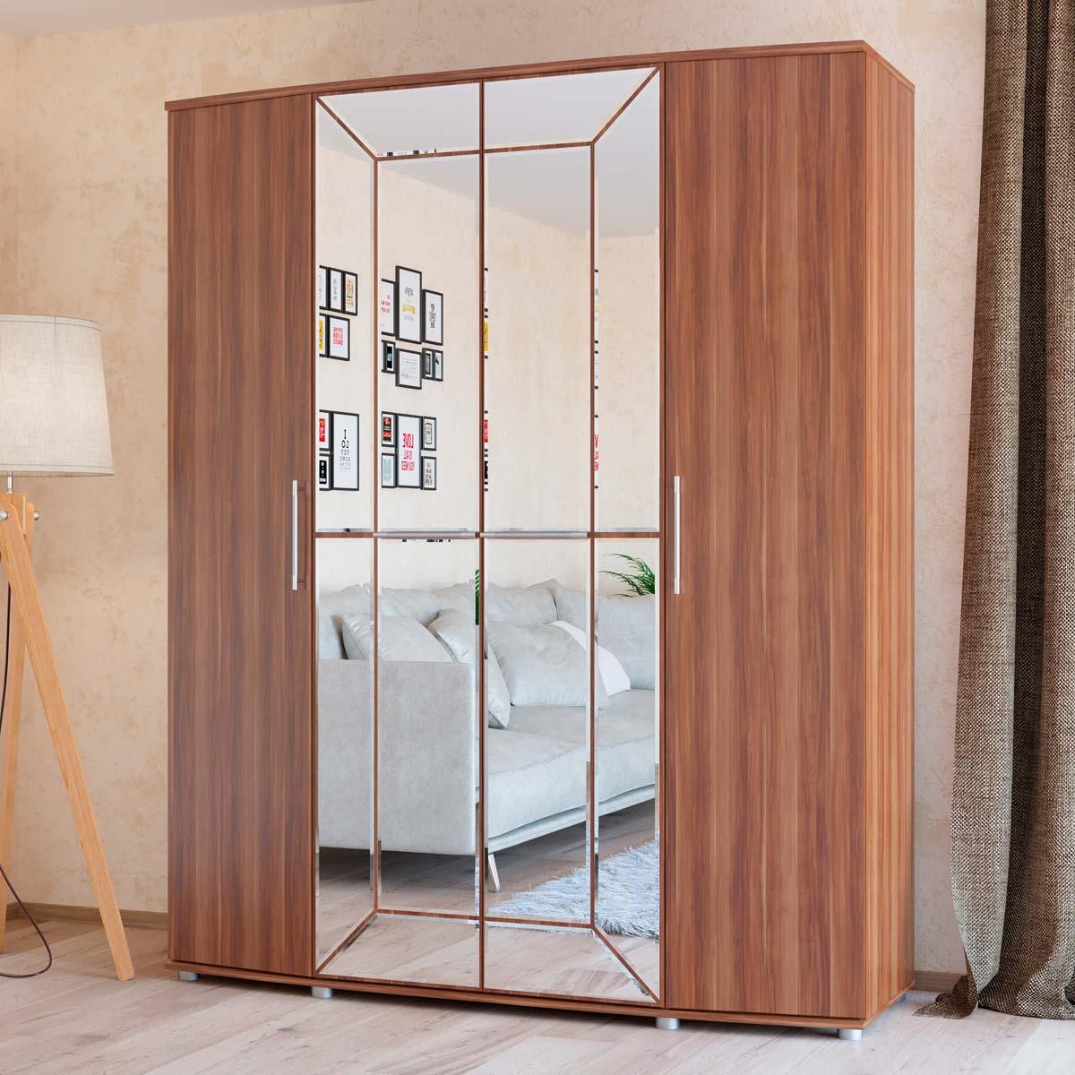Шкаф 4-х дверный амели (4-5200) купить недорого в москве с д.